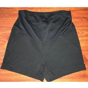 Women's FIRST KICK MATERNITY Shorts Large Black
